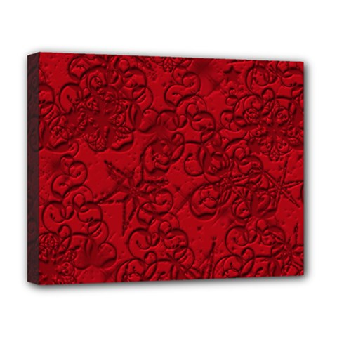 Christmas Background Red Star Deluxe Canvas 20  x 16