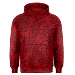Christmas Background Red Star Men s Pullover Hoodie