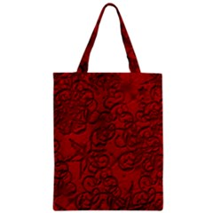 Christmas Background Red Star Zipper Classic Tote Bag