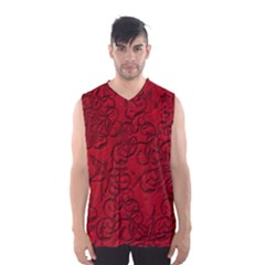 Christmas Background Red Star Men s Basketball Tank Top