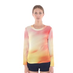 Background Abstract Texture Pattern Women s Long Sleeve Tee