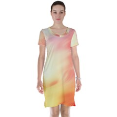 Background Abstract Texture Pattern Short Sleeve Nightdress
