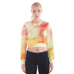 Background Abstract Texture Pattern Cropped Sweatshirt