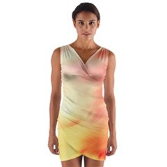 Background Abstract Texture Pattern Wrap Front Bodycon Dress
