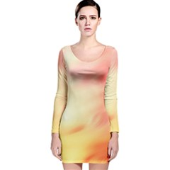 Background Abstract Texture Pattern Long Sleeve Velvet Bodycon Dress