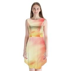 Background Abstract Texture Pattern Sleeveless Chiffon Dress