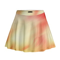 Background Abstract Texture Pattern Mini Flare Skirt