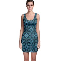 Abstract Pattern Design Texture Sleeveless Bodycon Dress