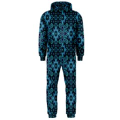 Abstract Pattern Design Texture Hooded Jumpsuit (Men)