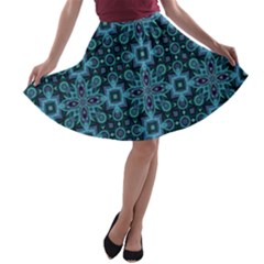 Abstract Pattern Design Texture A Line Skater Skirt