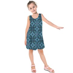 Abstract Pattern Design Texture Kids  Sleeveless Dress