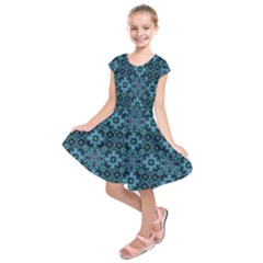 Abstract Pattern Design Texture Kids  Short Sleeve Dress