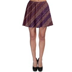 Stripes Course Texture Background Skater Skirt