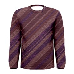 Stripes Course Texture Background Men s Long Sleeve Tee