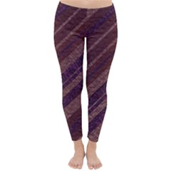 Stripes Course Texture Background Classic Winter Leggings