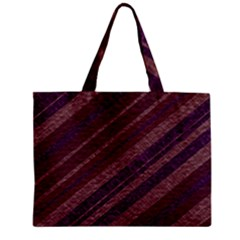 Stripes Course Texture Background Zipper Mini Tote Bag