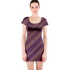 Stripes Course Texture Background Short Sleeve Bodycon Dress