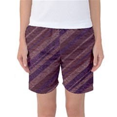 Stripes Course Texture Background Women s Basketball Shorts