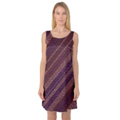 Stripes Course Texture Background Sleeveless Satin Nightdress