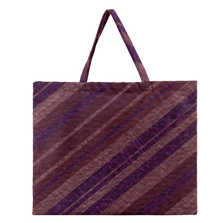 Stripes Course Texture Background Zipper Large Tote Bag