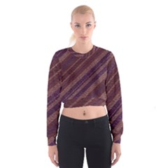 Stripes Course Texture Background Cropped Sweatshirt