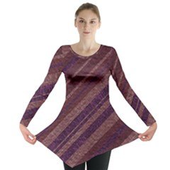 Stripes Course Texture Background Long Sleeve Tunic