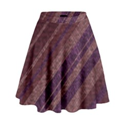 Stripes Course Texture Background High Waist Skirt