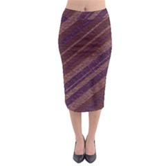 Stripes Course Texture Background Midi Pencil Skirt