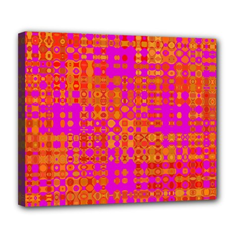 Pink Orange Bright Abstract Deluxe Canvas 24  x 20