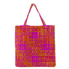 Pink Orange Bright Abstract Grocery Tote Bag