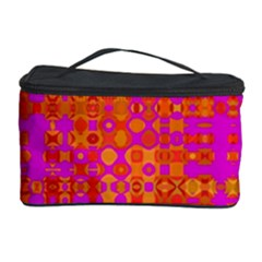 Pink Orange Bright Abstract Cosmetic Storage Case