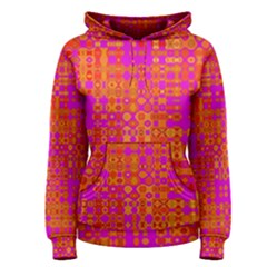 Pink Orange Bright Abstract Women s Pullover Hoodie