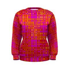Pink Orange Bright Abstract Women s Sweatshirt