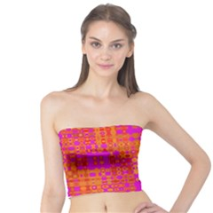 Pink Orange Bright Abstract Tube Top