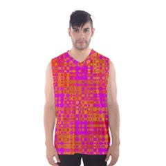 Pink Orange Bright Abstract Men s Basketball Tank Top