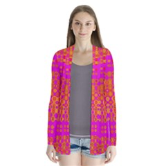 Pink Orange Bright Abstract Cardigans