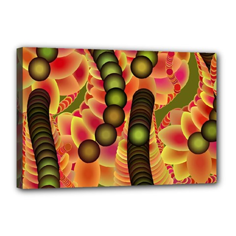Abstract Background Digital Green Canvas 18  X 12