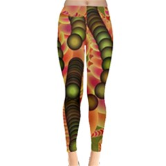 Abstract Background Digital Green Leggings