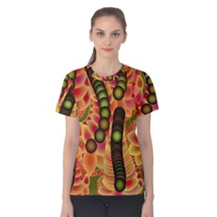 Abstract Background Digital Green Women s Cotton Tee