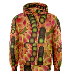 Abstract Background Digital Green Men s Pullover Hoodie