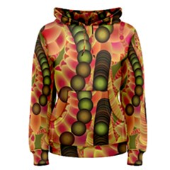 Abstract Background Digital Green Women s Pullover Hoodie
