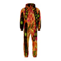 Abstract Background Digital Green Hooded Jumpsuit (Kids)