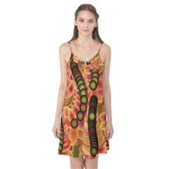 Abstract Background Digital Green Camis Nightgown