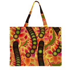 Abstract Background Digital Green Large Tote Bag