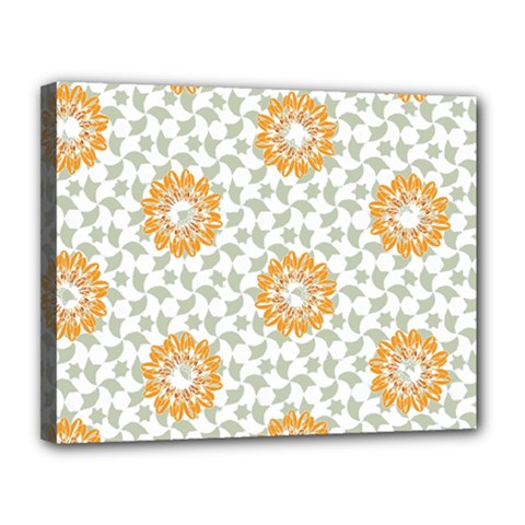 Stamping Pattern Fashion Background Canvas 14  x 11