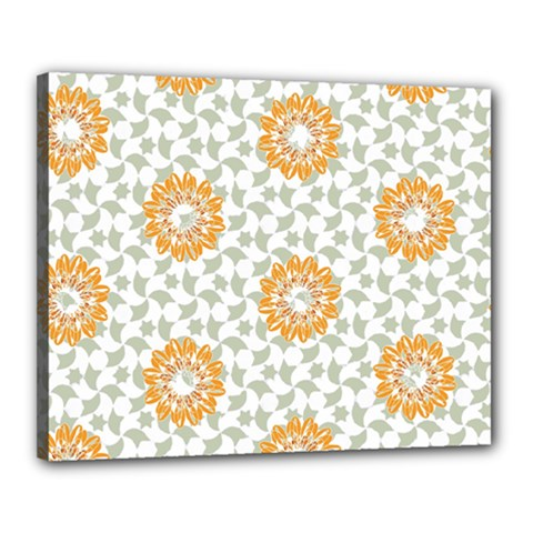 Stamping Pattern Fashion Background Canvas 20  x 16