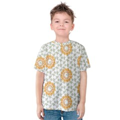 Stamping Pattern Fashion Background Kids  Cotton Tee