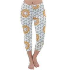 Stamping Pattern Fashion Background Capri Winter Leggings