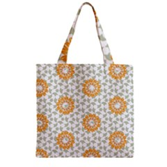 Stamping Pattern Fashion Background Zipper Grocery Tote Bag