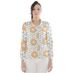 Stamping Pattern Fashion Background Wind Breaker (Women)